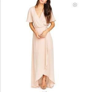 SHOW ME YOUR MUMU Sophia Wrap Dress Dusty Blush
